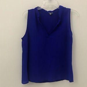 Sleeveless blouse. Royal Blue Color.